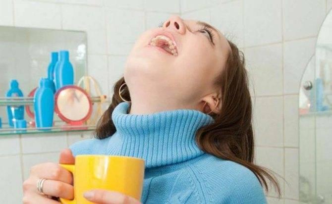 Как водкой полоскать горло