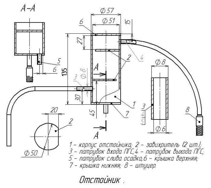Конструкция самогонного аппарата с дефлегматором и сухопарником