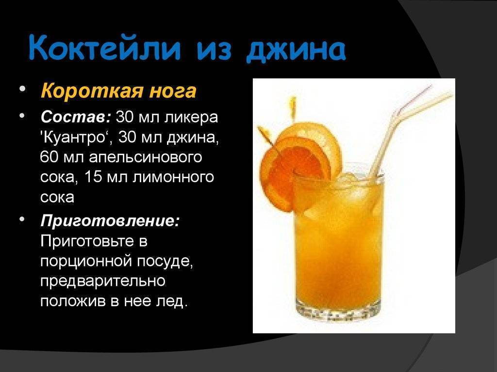 Рецепты приготовления коктейлей с джином в домашних условиях
