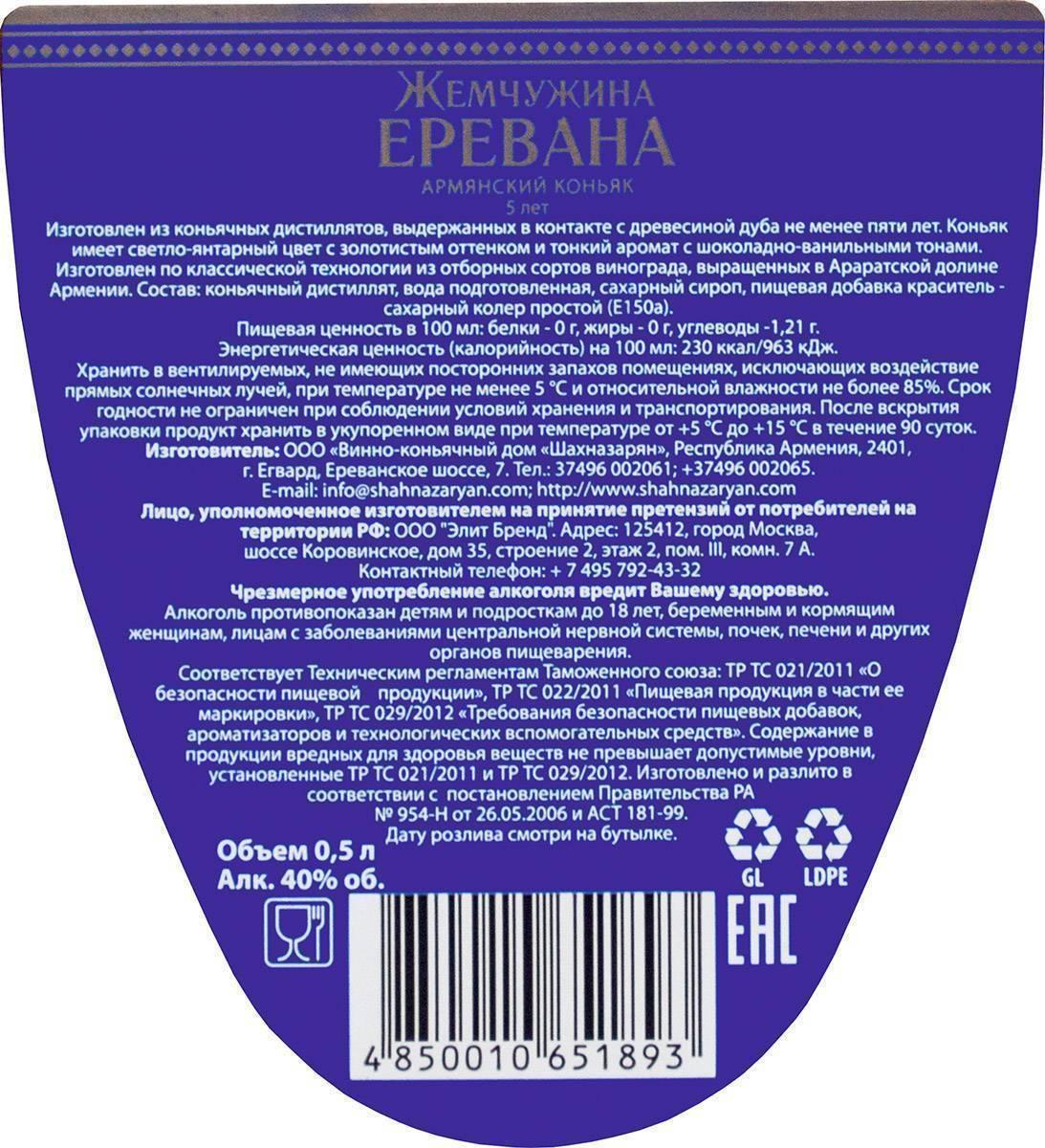 Обзор коньяка Жемчужина Еревана