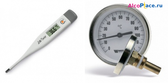 Термометр для самогонного аппарата, биметаллический, электронный