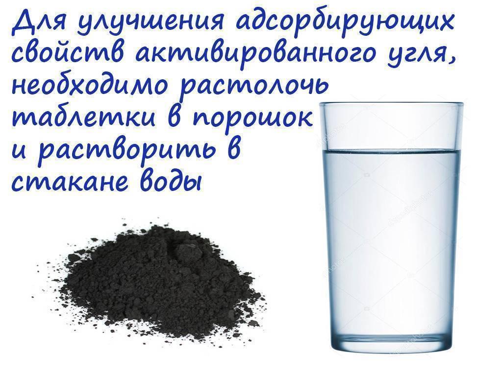 Белый и активированный уголь при похмелье