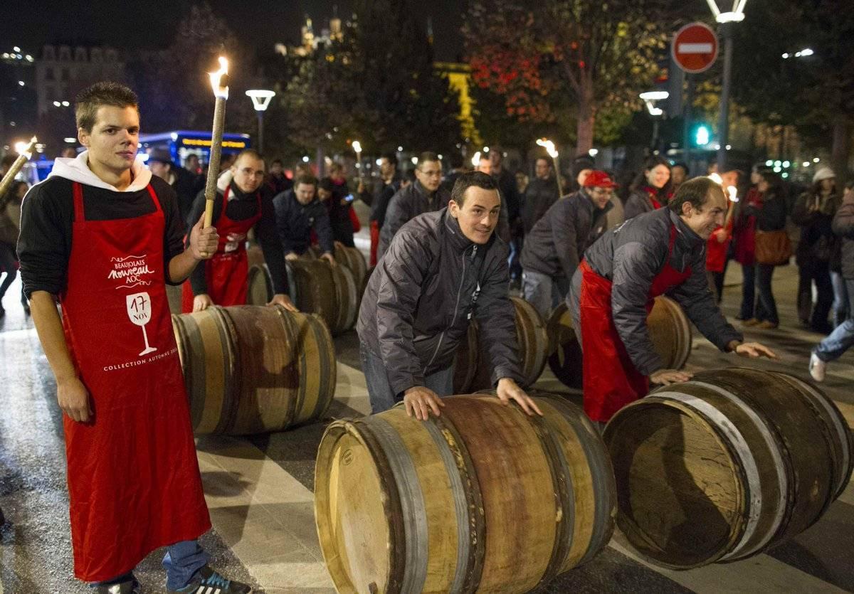 Божоле нуво 2018-2019 французский праздник виноделия