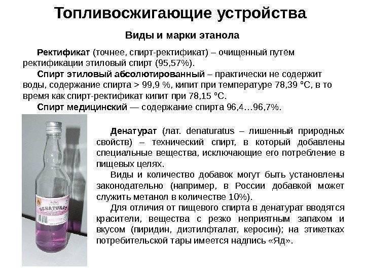 Рецепт на спирт этиловый