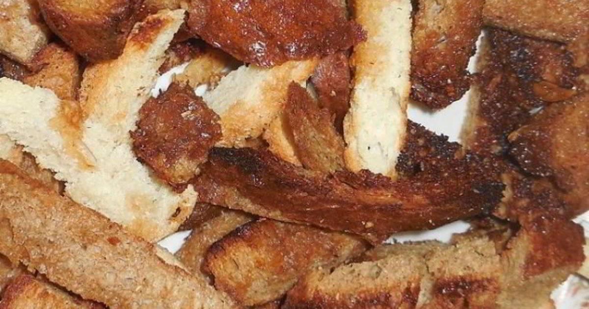Вкусные сухарики из белого хлеба в духовке - простые пошаговые рецепты с фотографиями