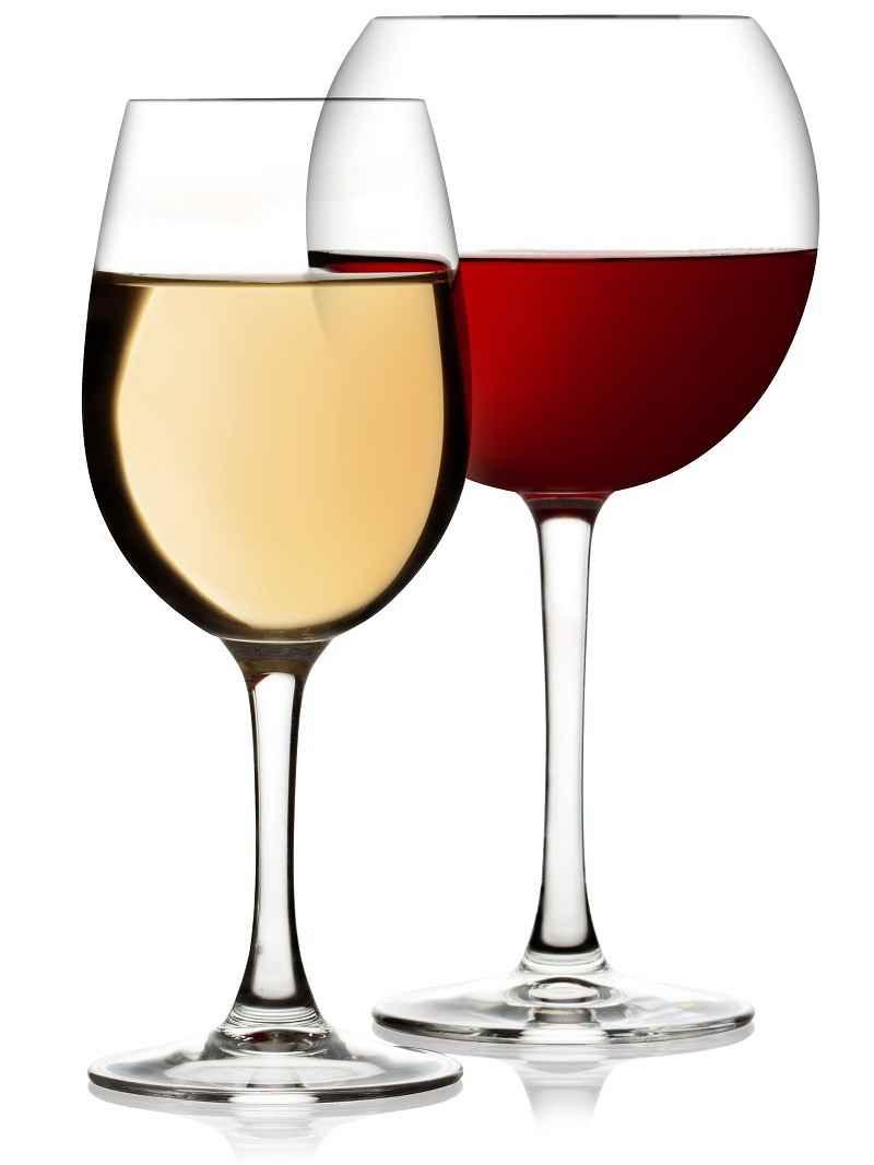 Чем отличаются бокалы для красного и белого вина?