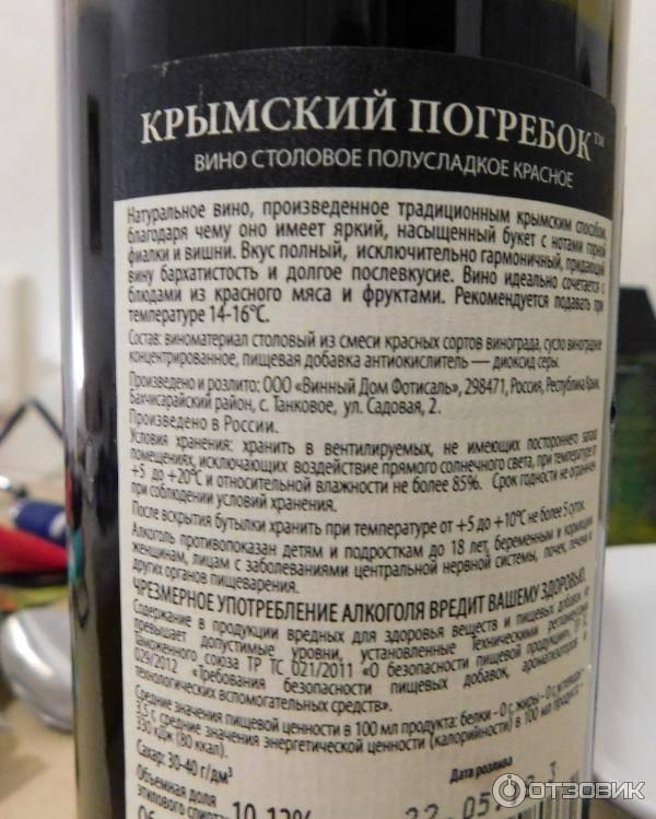 Сколько спирта содержится в вине?