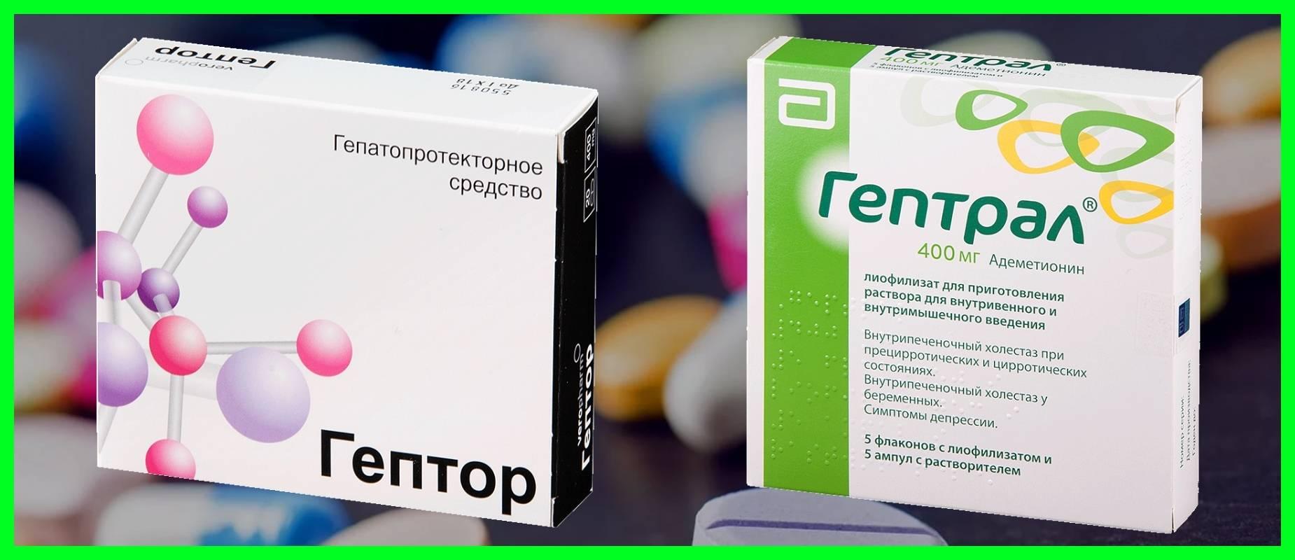 Что эффективнее, Гептрал или Гептор, в чем разница между препаратами?