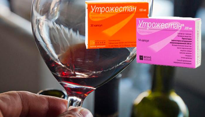 Можно ли употреблять прогестерон с алкоголем
