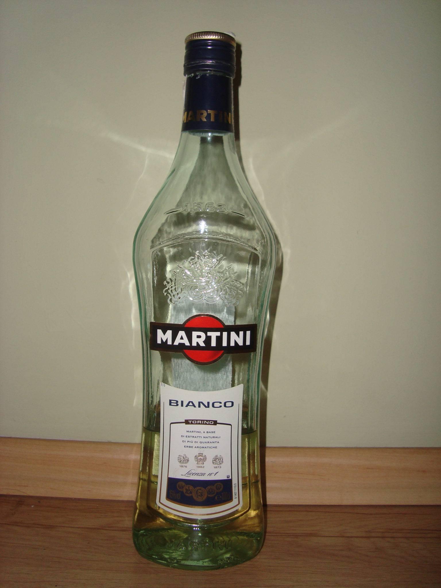 С чем можно мешать мартини