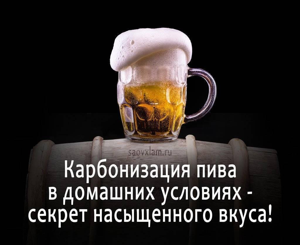 Карбонизация пива - секрет насыщенного вкуса!