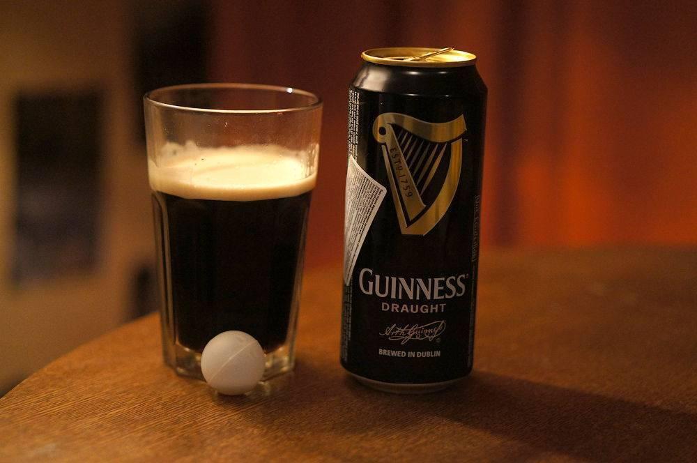 Гиннес — ирландское пиво с азотной капсулой