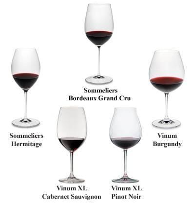 Разновидности бокалов для вина: их классификация