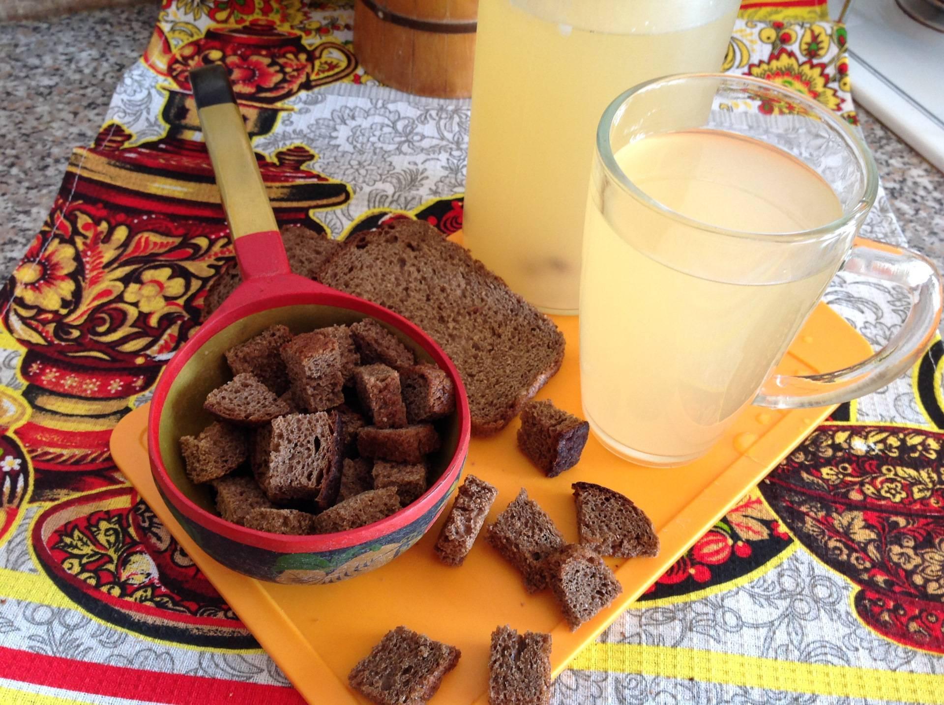 Рецепт домашнего кваса из черного хлеба