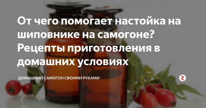 Настойка шиповника на самогоне: 5 рецептов напитка, польза и вред