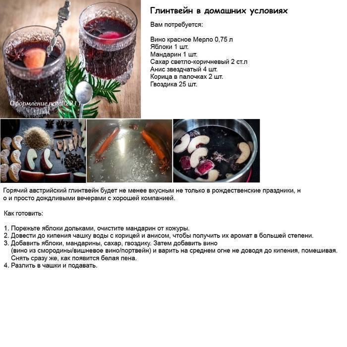 Как приготовить домашний глинтвейн — 2 рецепта с пошаговым приготовлением
