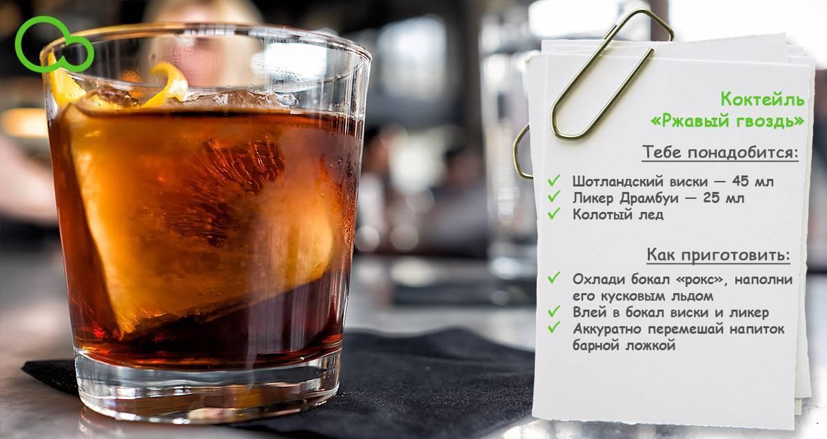 Рецепты приготовления коктейля Ржавый гвоздь