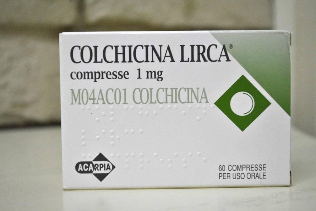 Колхицин – противоподагрический препарат