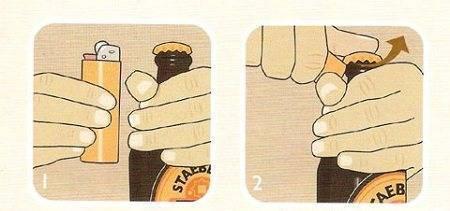 Как открыть бутылку колы без открывашки. как тихо открыть пивную банку? кольцо с пальца заменит открывалку