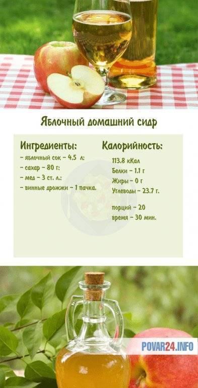 Сидр яблочный — 7 рецептов в домашних условиях