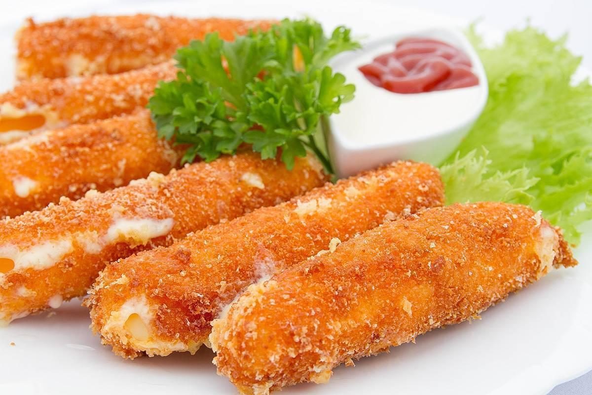 Сырные палочки в панировке. пошаговый рецепт с фото