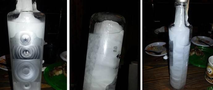Нужная температура в морозилке для замерзания водки и спирта