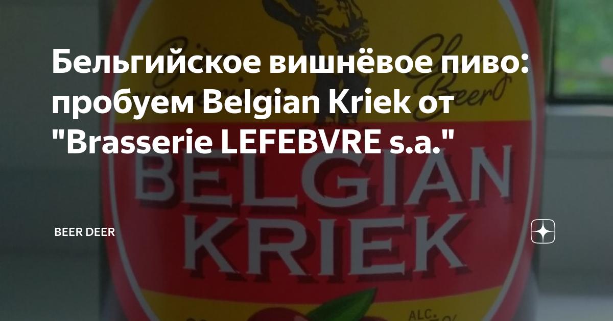 Пиво со вкусом вишни. виды вишнёвого пива