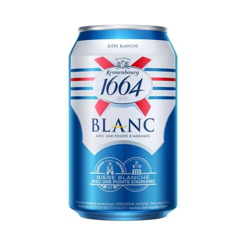 Пиво 1664 кроненберг blanc — история алкоголя