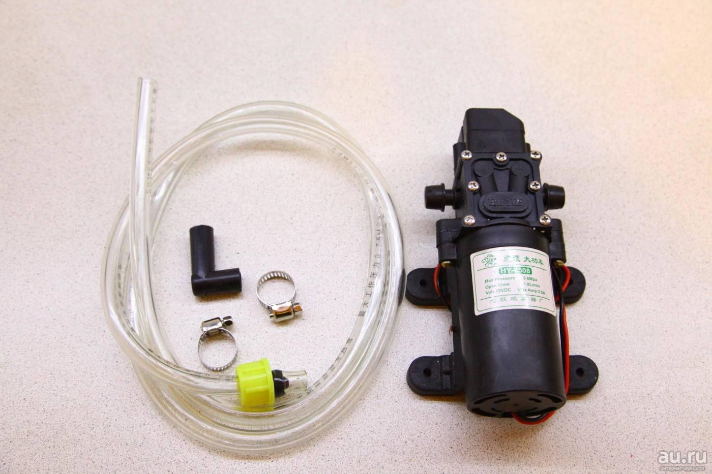 Насос для самогона подключаем к охладителю и качаем воду