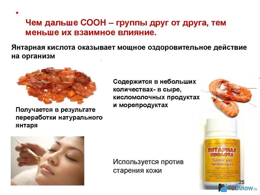 Янтарная кислота после алкоголя