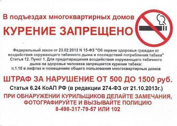 Штрафы за курение 2020: суммы, оплата, запрещенные места