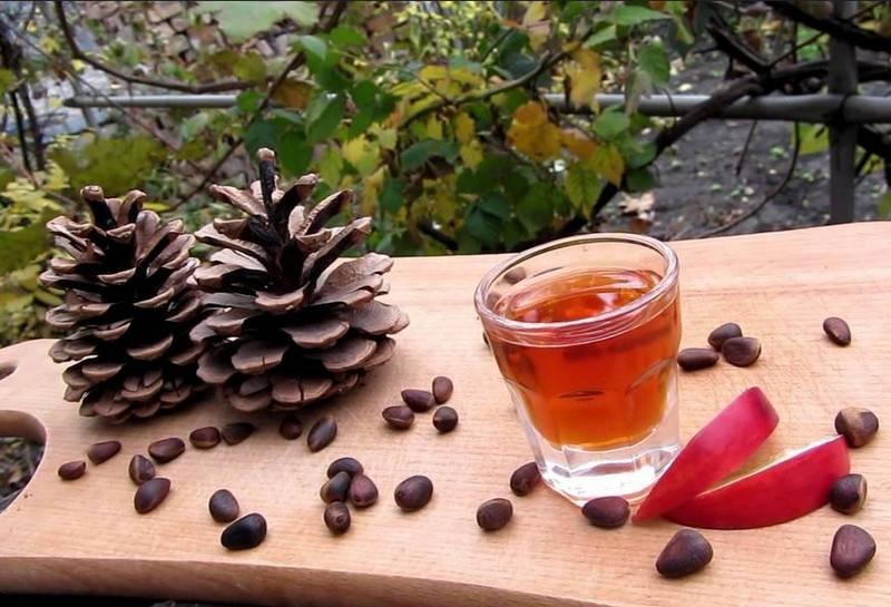 Польза и вред настойки из кедровых орешков и водки