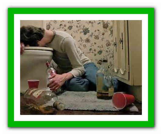 Как остановить рвоту желчью при алкогольном отравлении