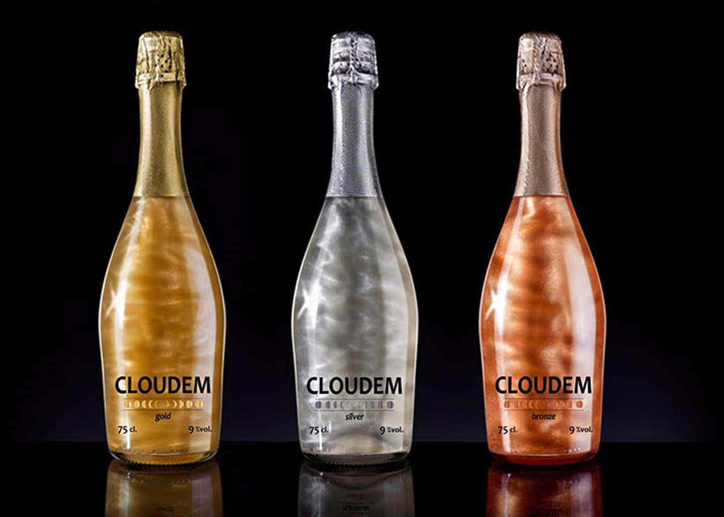 Популярные виды перламутрового шампанского с блестками