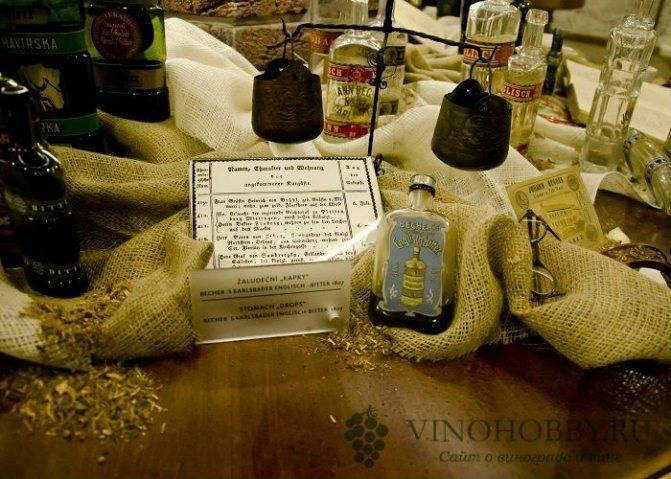 Настойка бехеровка — состав трав оригинальный