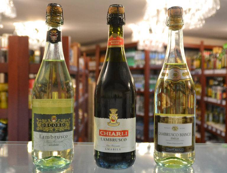 Ламбруско (lambrusco) - итальянское игристое вино
