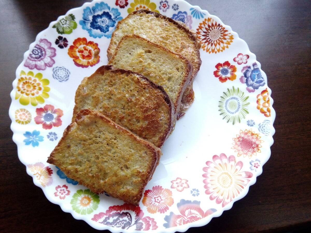 Гренки из белого хлеба с яйцом и молоком рецепт с фото пошагово и видео - 1000.menu