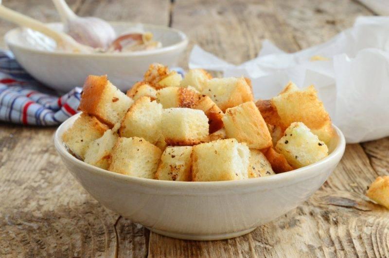 Сухарики с разными вкусами – кулинарный рецепт