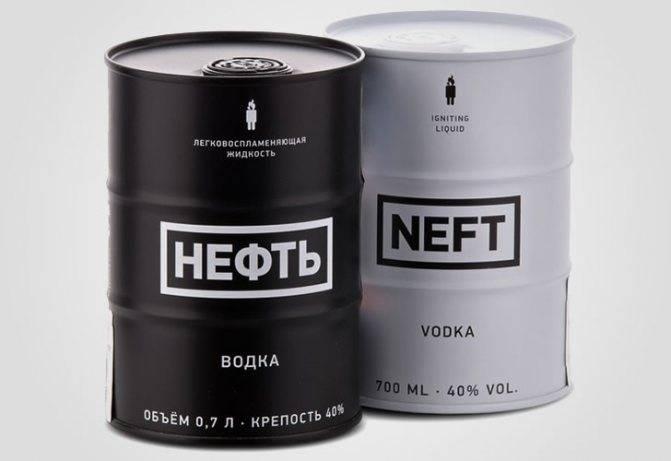 Водка Нефть (Nerf) — что представляет из мебя и как отличить её от подделки