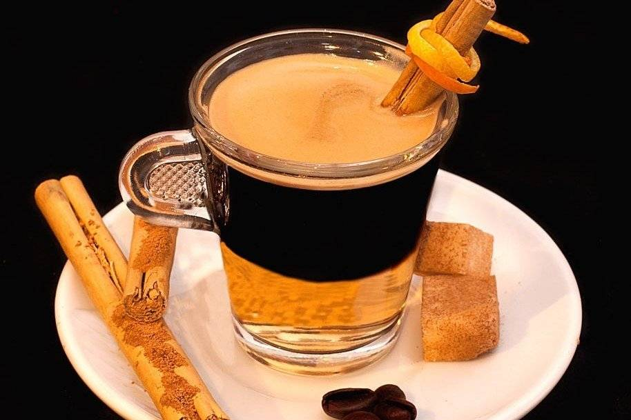 Как сделать кофе с коньяком,делать пропорции как готовить и как пить