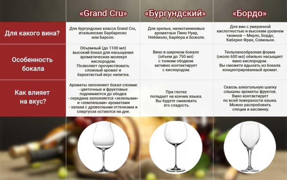Выбираем правильные бокалы для белого вина