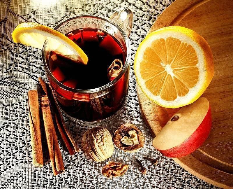 Рецепт приготовления глинтвейна с апельсином и корицей – как правильно пить