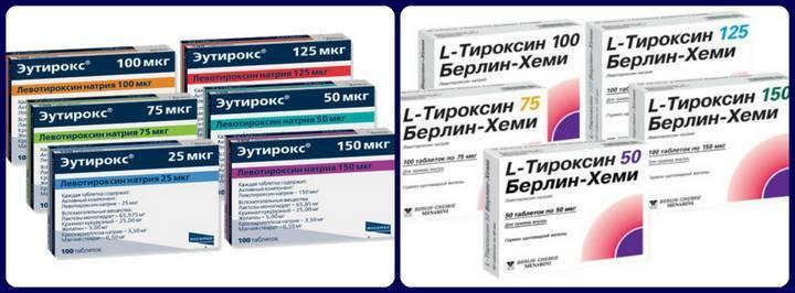 Препараты гормонов щитовидной железы: список и особенности применения