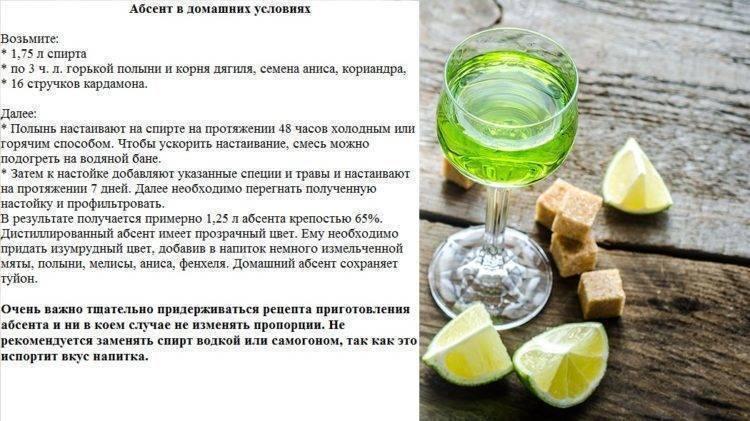 Абсент: 8 рецептов в домашних условиях