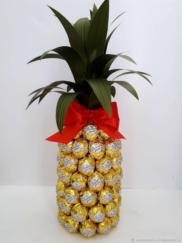 Мастер-класс свит-дизайн моделирование конструирование мк ананас из конфет