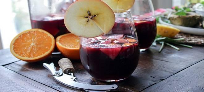Фруктовая сангрия из красного вина в домашних условиях