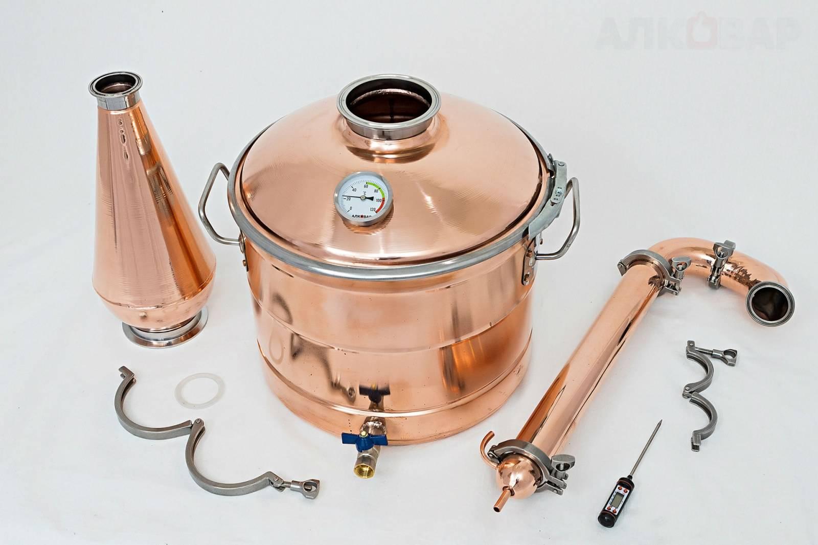 Медь или нержавейка: выбираем перегонный куб для самогонного аппарата