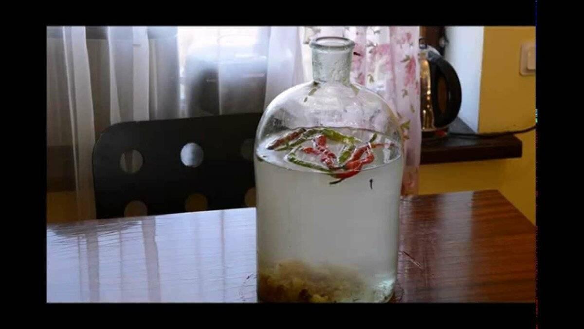 Домашняя перцовка с мёдом на спирту и водке