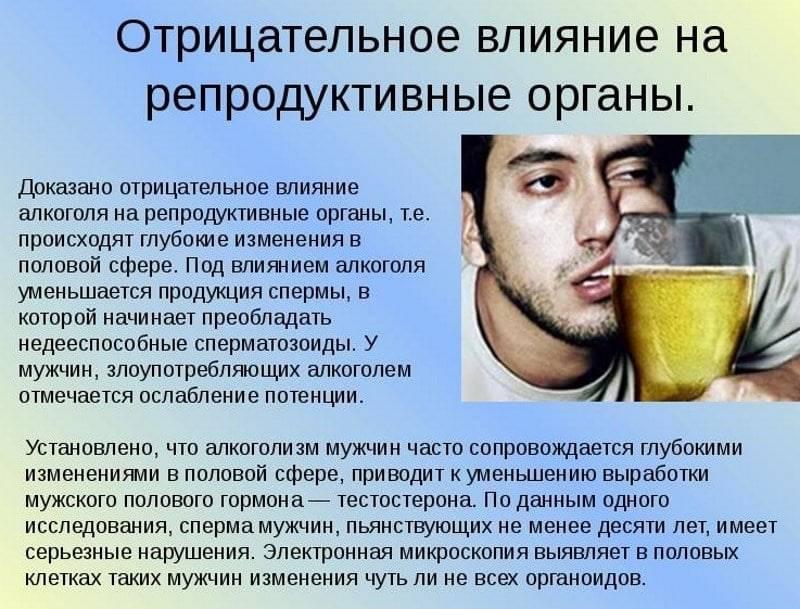 Влияет ли алкоголь на простатита лечение простатита в домашних условиях с женой