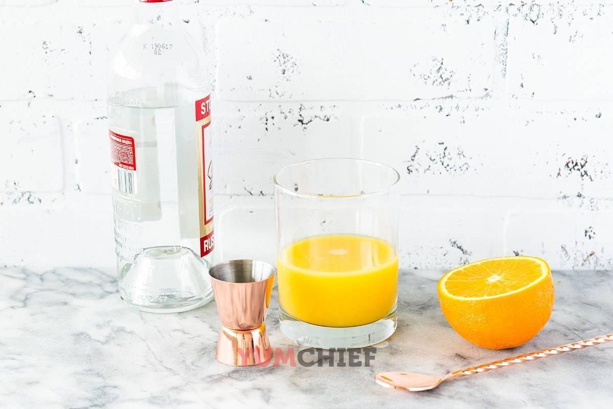 Как сделать коктейль отвертку (screwdriver) в домашних условиях